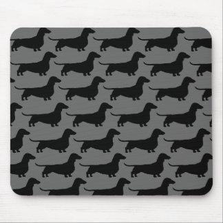 Dachshund Dog Silhouettes Mousepad