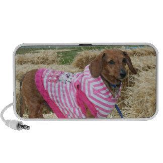 Dachshund dog laptop speakers
