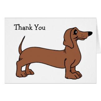 Dachshund Dog Thank You Cards