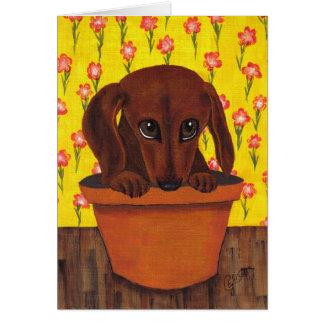 Dachshund Dog Too Cute Greeting Card