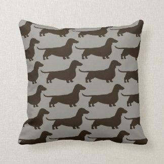 Dachshund Dogs Pattern Throw Pillow