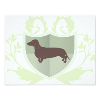 Dachshund Doxie Classic Crest Design 11 Cm X 14 Cm Invitation Card