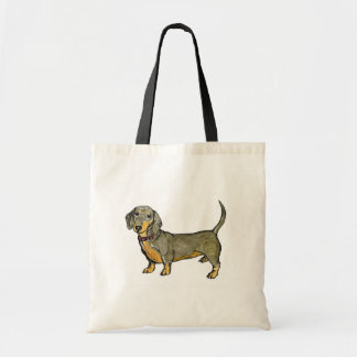 dachshund doxie wiener hot dog tote bag