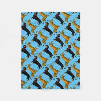 dachshund fleece blanket