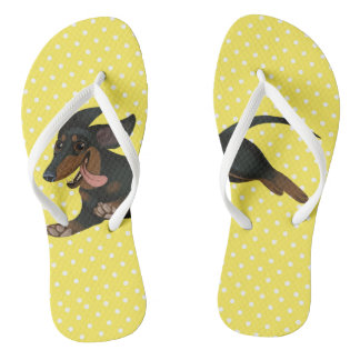 Dachshund Flip Flops Wiener Dog Shoes