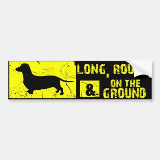 Dachshund Funny Wiener Dog Bumper Sticker -