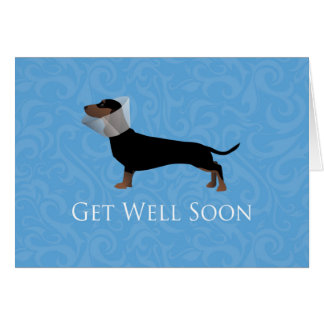 Dachshund Get Well Soon Design Card