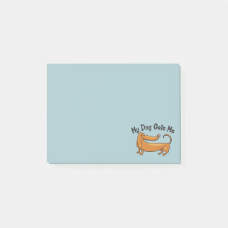Dachshund Gets Me Post-it® Notes 4 x 3