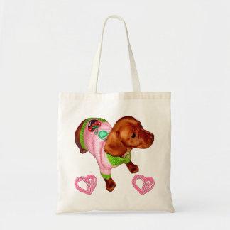 Dachshund Gift for Dachshund Lovers Custom Tote Canvas Bag