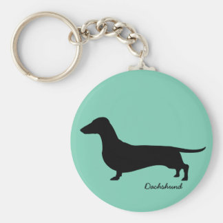 Dachshund Gifts Basic Round Button Key Ring