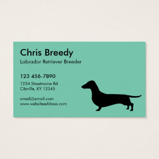 Dachshund Gifts Business Card
