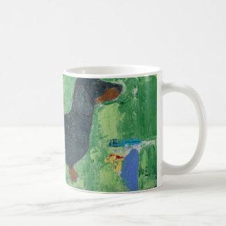 Dachshund Gifts Wiener Dog Modern Abstract Art Mug