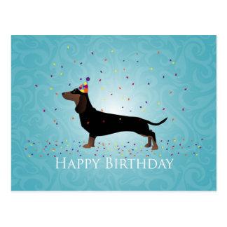 Dachshund Happy Birthday Design Postcard