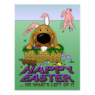 Dachshund Happy Easter  Postcard