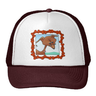DACHSHUND TRUCKER HATS