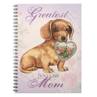 Dachshund Heart Mom Notebooks