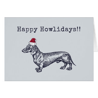 Dachshund Holiday Card