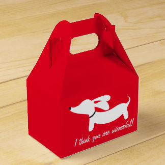 Dachshund I think you are wienerful gift box Party