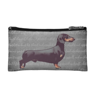 Dachshund Illustration Cosmetic Bag