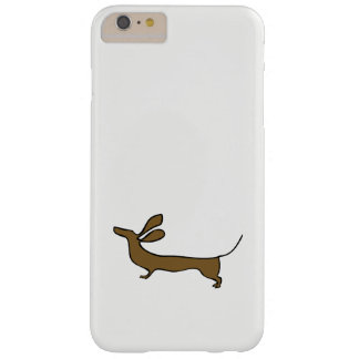 Dachshund illustration flying ears iphone case