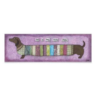 Dachshund in a sweater poster