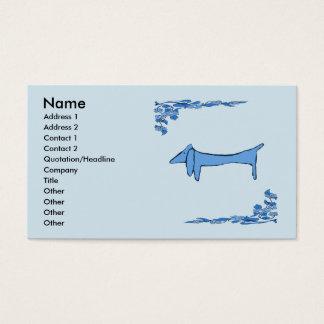 Dachshund in Blue Business Card