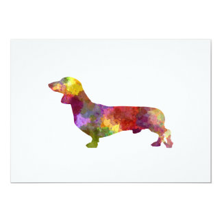 Dachshund in watercolor 2 card