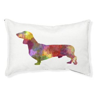 Dachshund in watercolor 2 pet bed