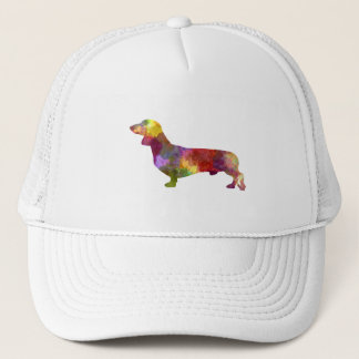 Dachshund in watercolor 2 trucker hat