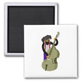 Dachshund Jazz Bass Player Magnet