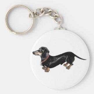 dachshund 'long dog ' key chain