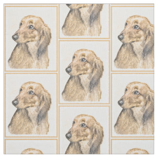 Dachshund (Longhaired) 2 Fabric
