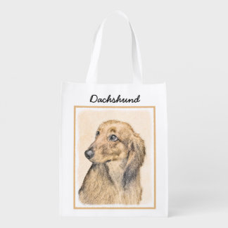 Dachshund (Longhaired) 2 Reusable Grocery Bag