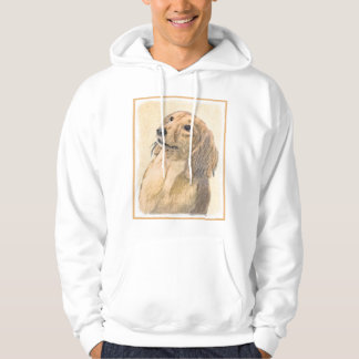 Dachshund (Longhaired) Painting - Original Dog Art Hoodie