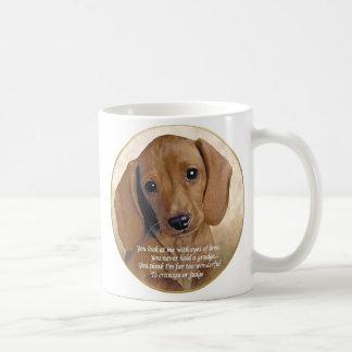 Dachshund Love Basic White Mug