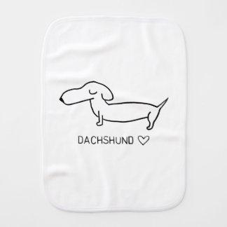Dachshund Love Burp Cloth