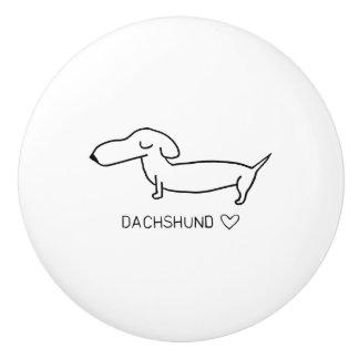 Dachshund Love Ceramic Knob