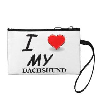 dachshund love coin purse