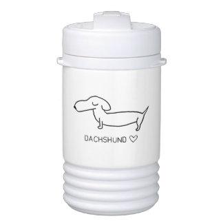 Dachshund Love Drinks Cooler