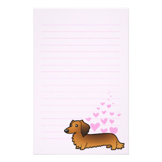 Dachshund Love (longhair) Stationery