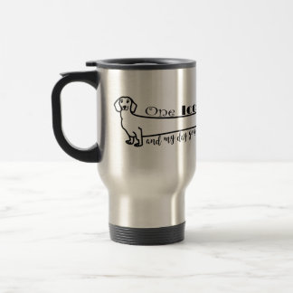 Dachshund Love My Wiener Dog Cute Funny Sketch Travel Mug