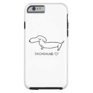 Dachshund Love Tough iPhone 6 Case