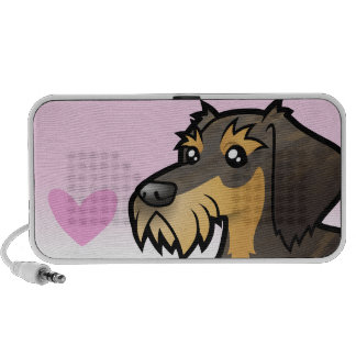 Dachshund Love (wirehair) Portable Speakers