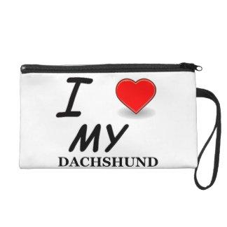 dachshund love wristlet