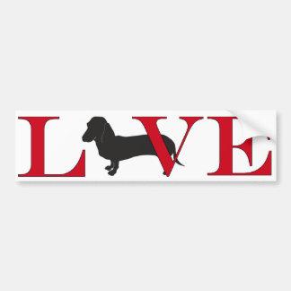 Dachshund Lover Bumpersticker Bumper Sticker