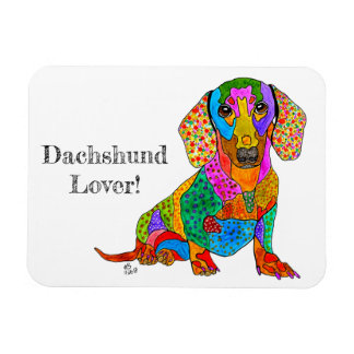 """Dachshund Magnet 3""""x4"""" (You can Customise)"""