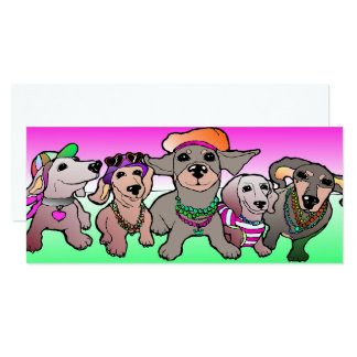 Dachshund map badger dog sow legend Dogs Card pink