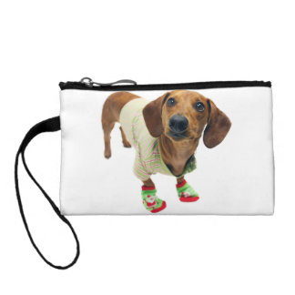 Dachshund - merry christmas - cute dog coin purse