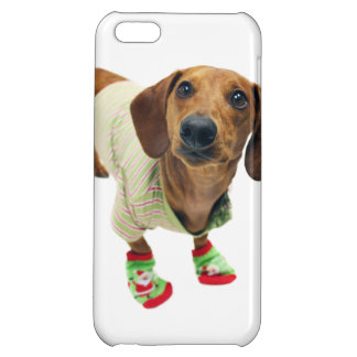 Dachshund - merry christmas - cute dog cover for iPhone 5C
