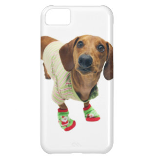 Dachshund - merry christmas - cute dog iPhone 5C case